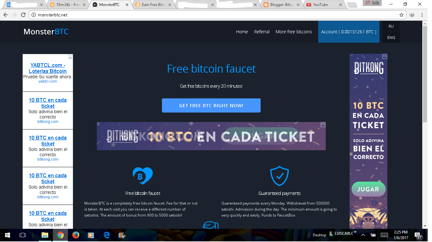 Top Paying Free Bitcoin Faucets 1million+ satochis a week BTC ...